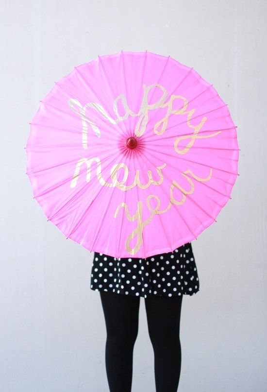 Hand painted parasols