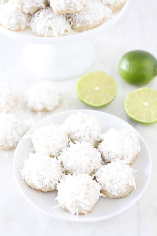 Lime coconut snowball cookies