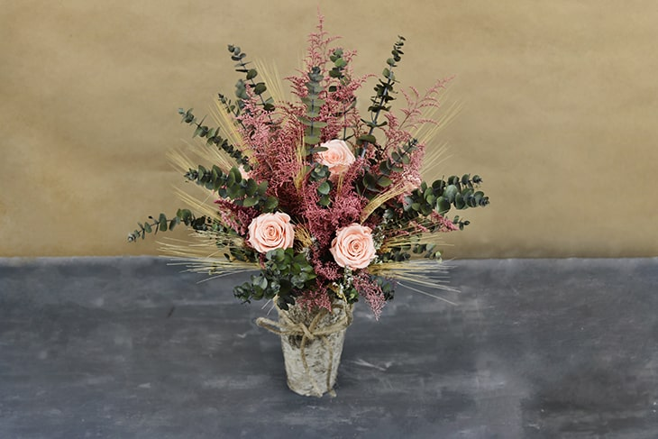 Lovely dried flower arrangements