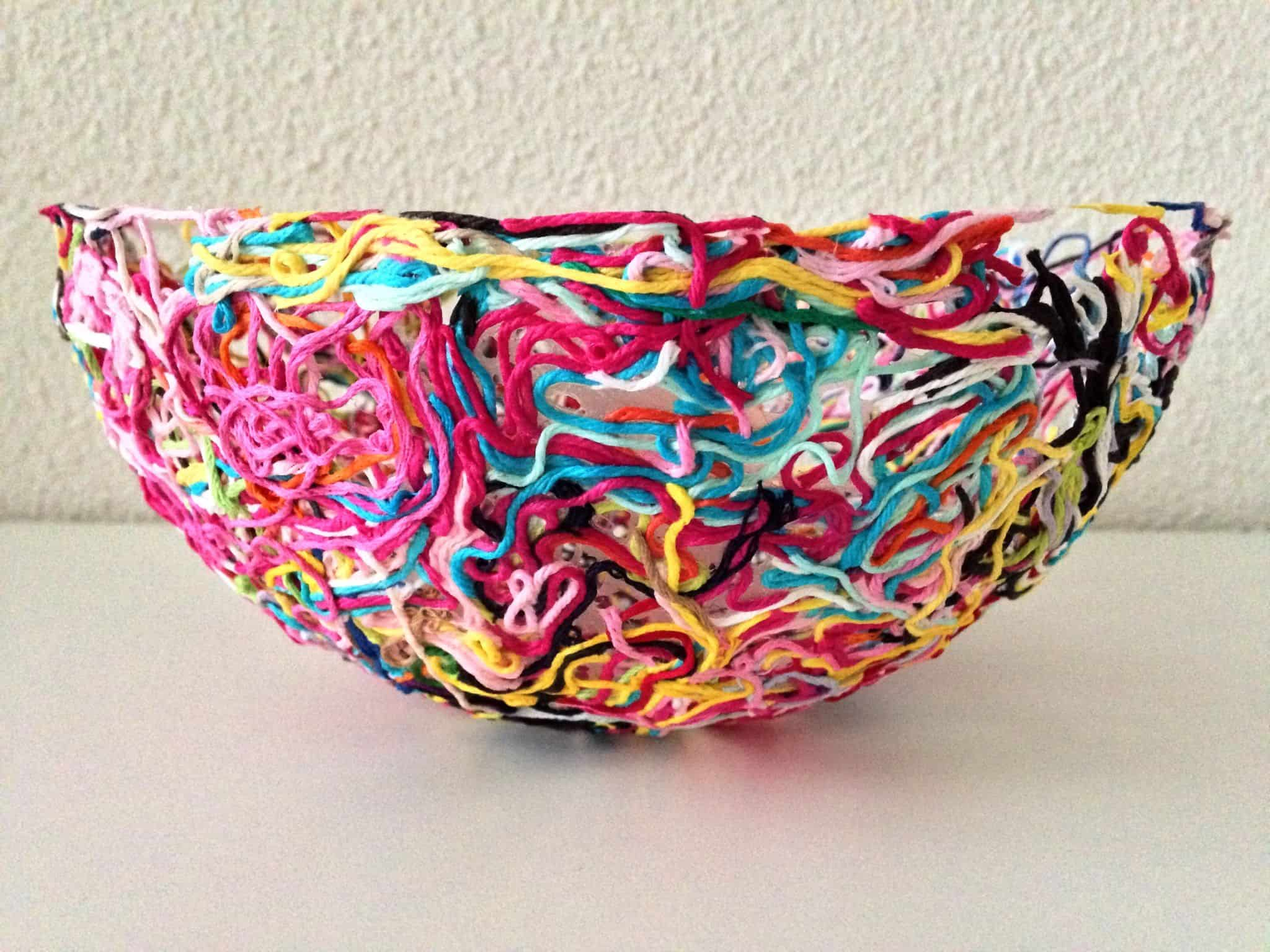 Moulded yarn scrap bowl