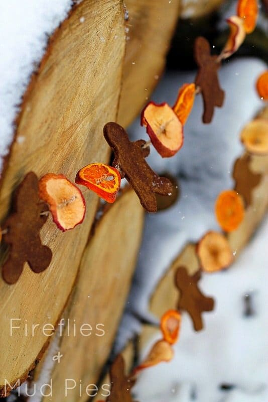 Old fashioned fruit and cookie holiday garland