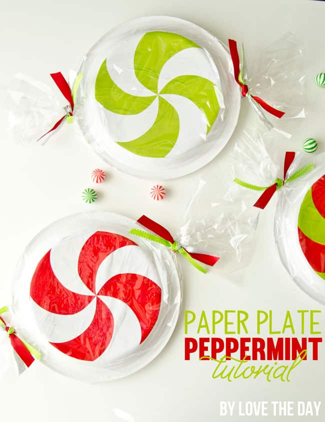Paper plate peppermints