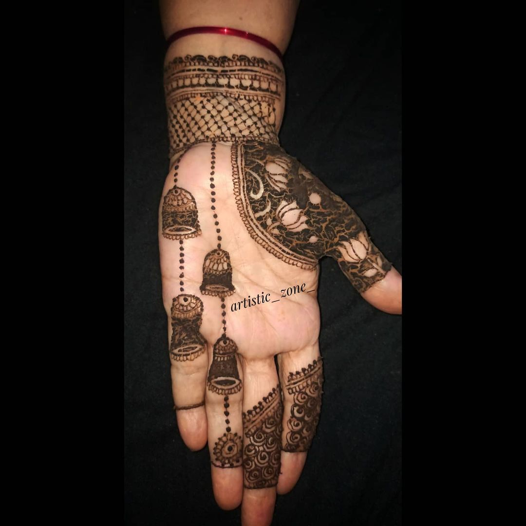 Henna Hand Tattoo Design