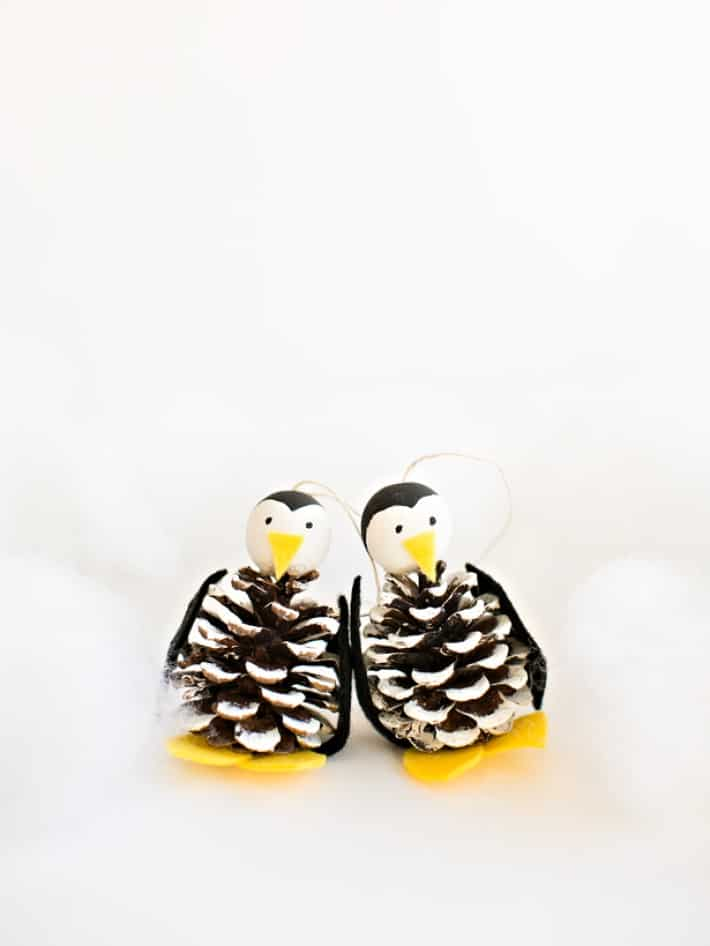 Pine cone penguins