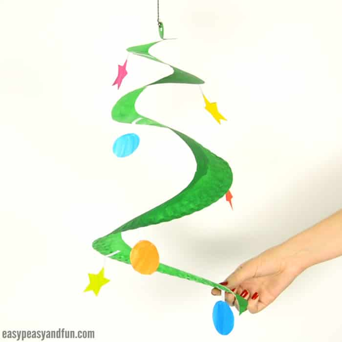Plate spiral and hanging ornaments craft