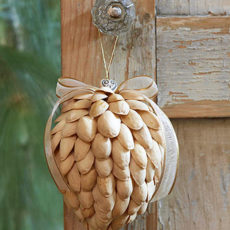 Pretty pistachio christmas ornament