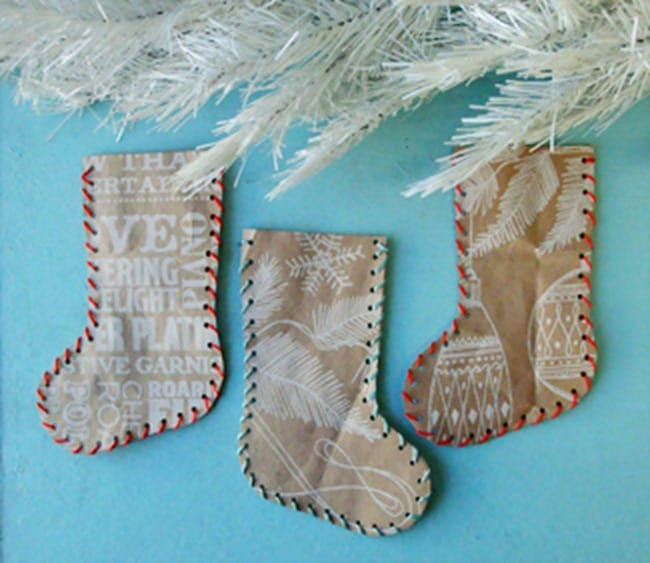 Recycled paper bag stockings
