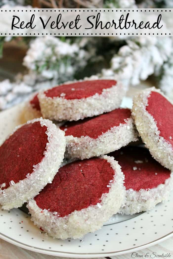 Red velvet shortbread