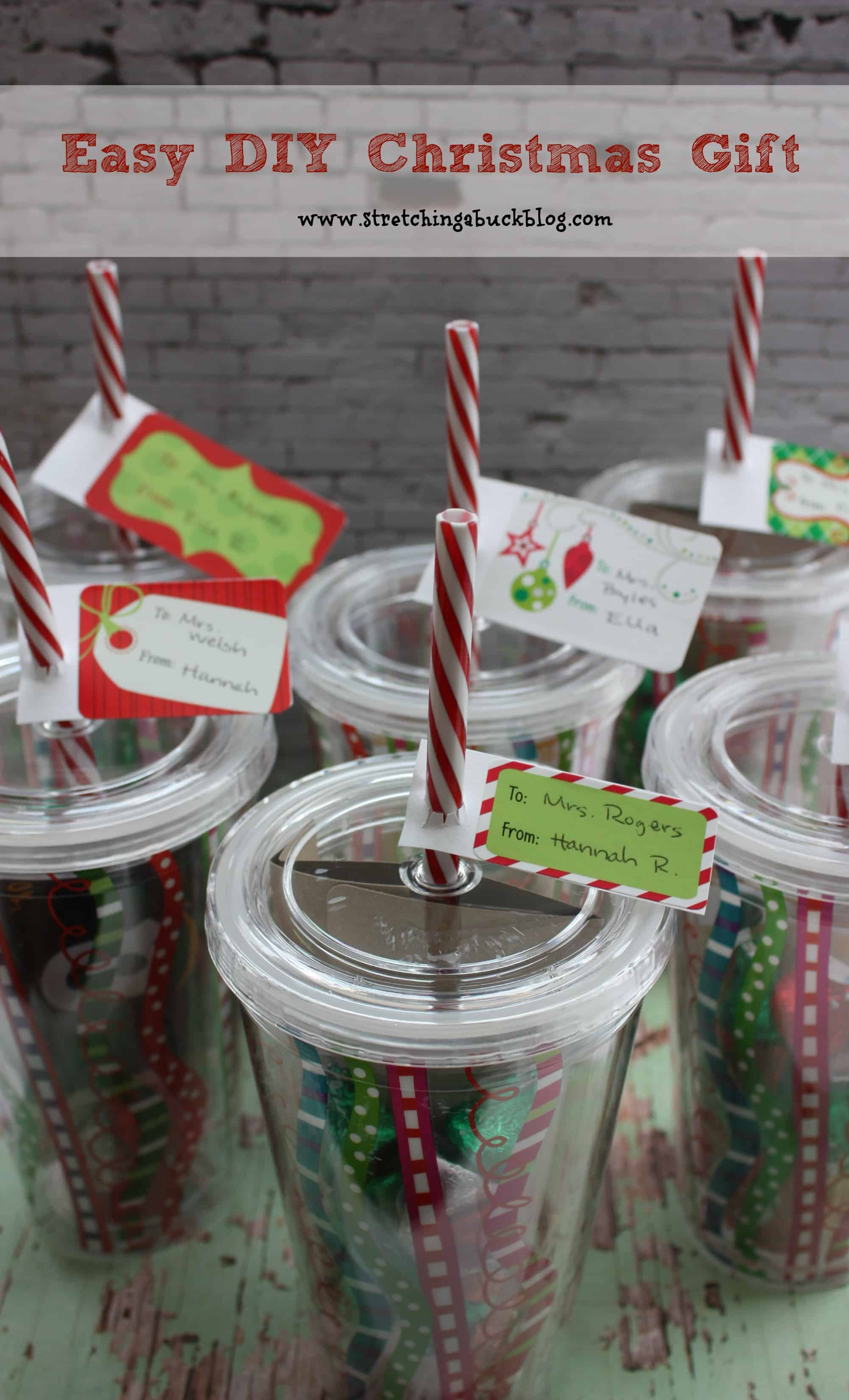 Reusable cup diy gift pack