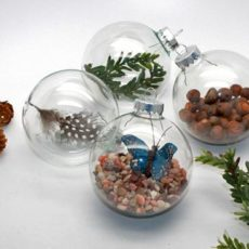 Rock and branch glass balls