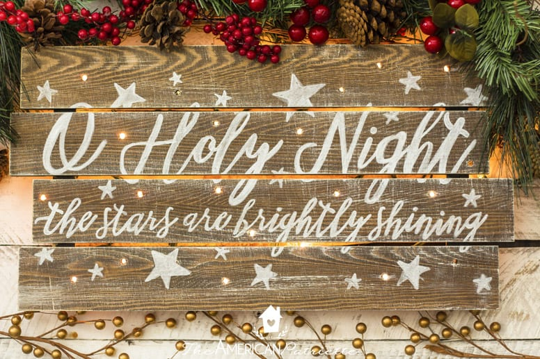 Rustic painted lyric light up sign