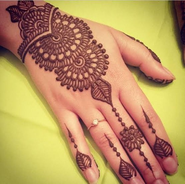 Semi Circles Henna Hand Tattoo