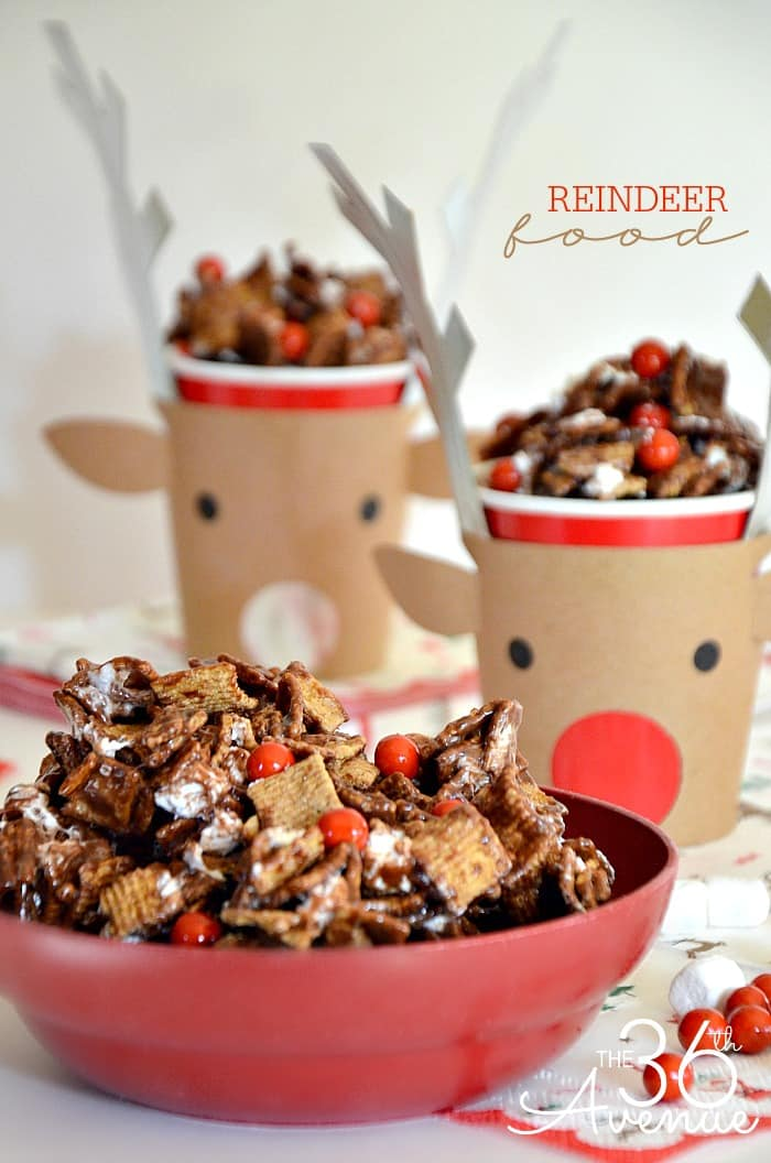 Shareable reindeer food in a diy reindeer cup