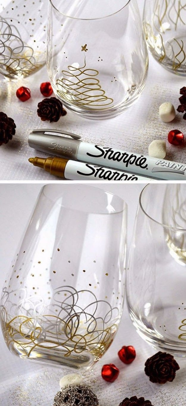 Sharpie paint pen glasses