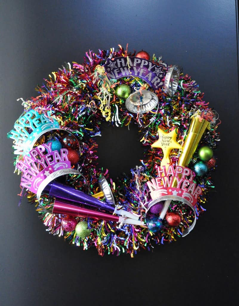 Sparkling diy nye wreath