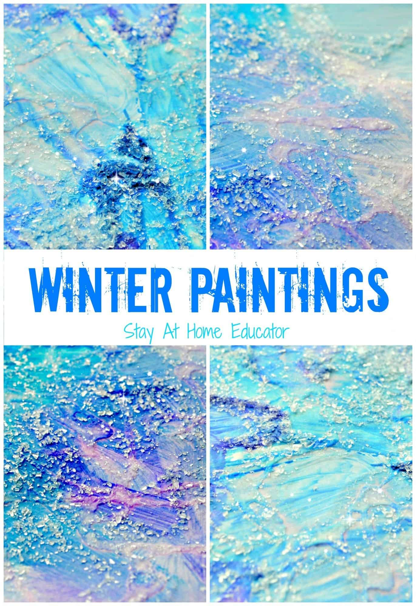 Sparkly winter paitnings