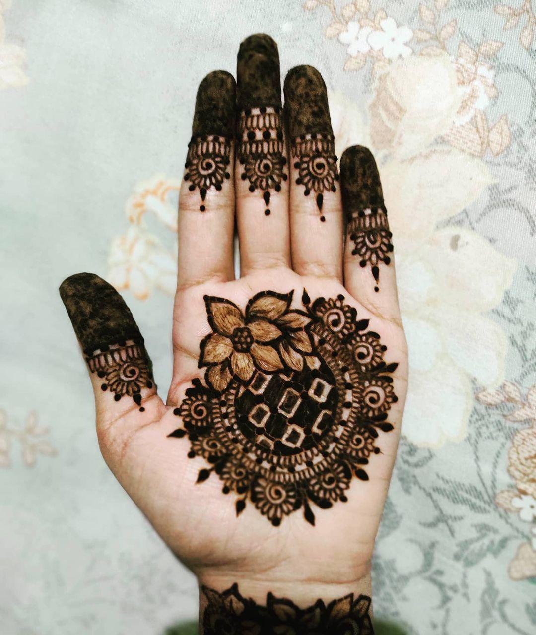 Henna Hand Designs - Flowers