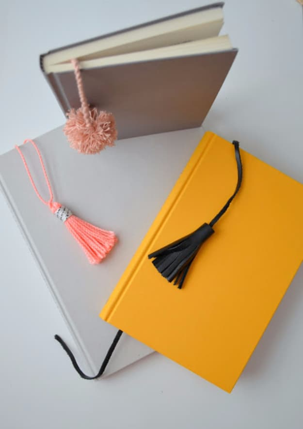 Tassel and pom pom notebooks