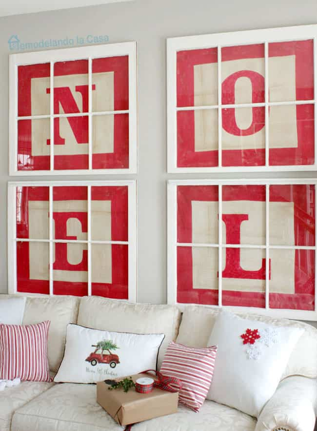 Window pane block letters art