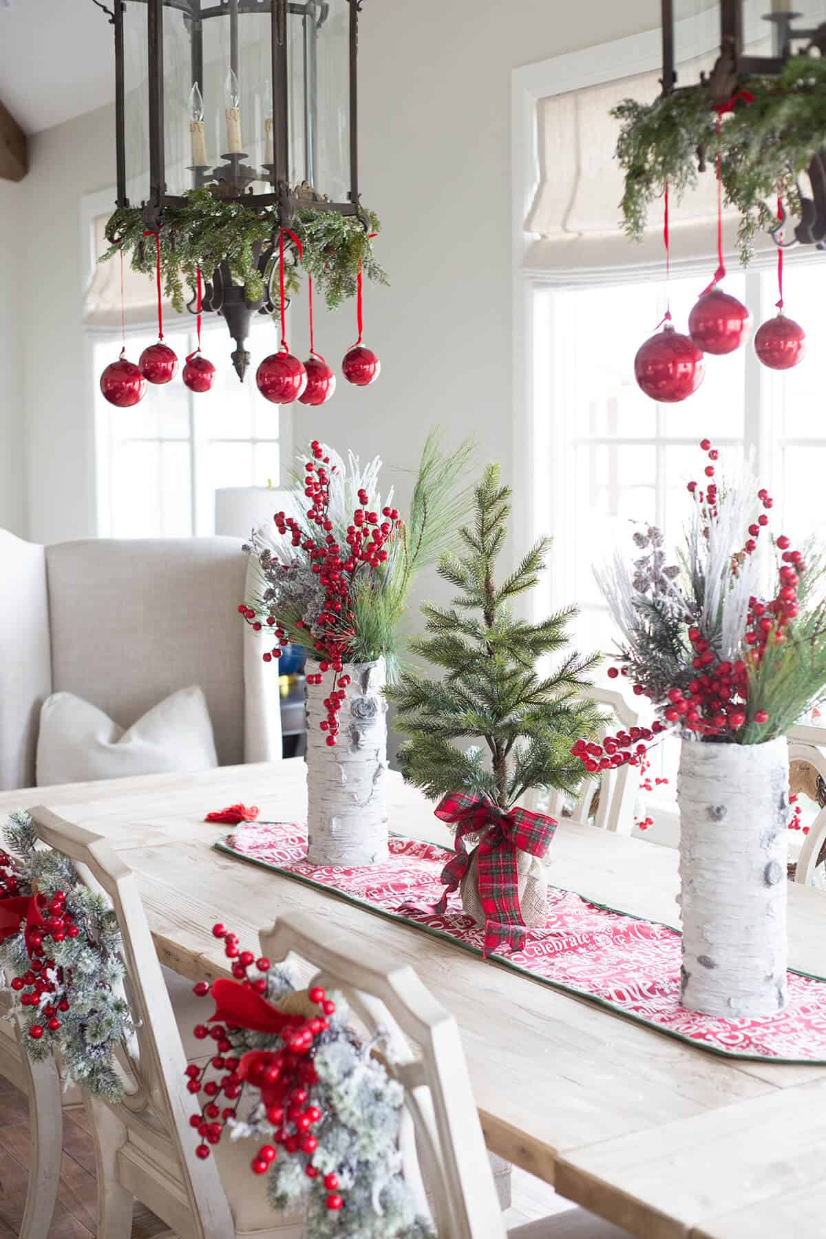 Berrie inspired christmas dining room table