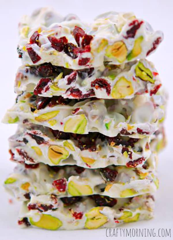 Christmas bark cranberry pistachio
