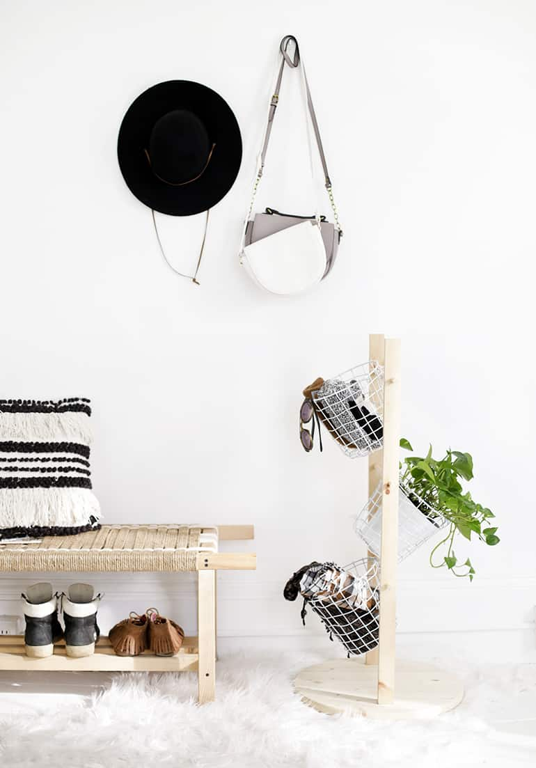 Diy basket tower
