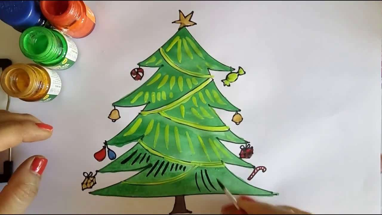 15 Diy Christmas Tree Drawings To Do With The Kids