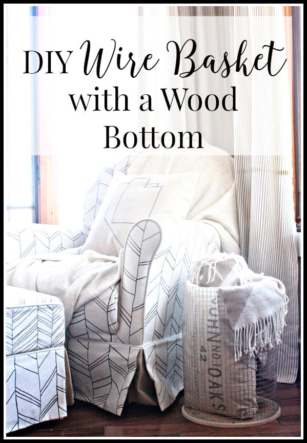 Diy wire basket with wood bottom