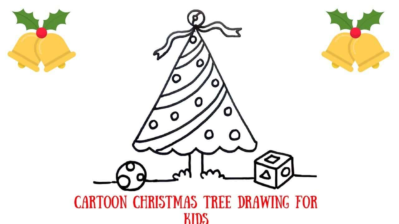 Easy christmas tree drawing diy