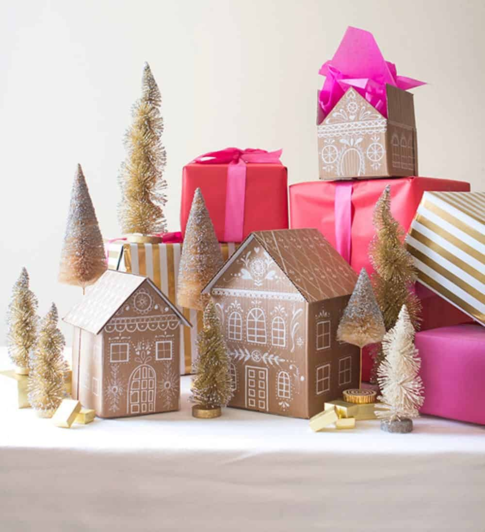 Gingerbread house boxes diy