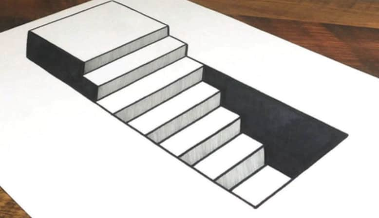 How to draw 3d steps