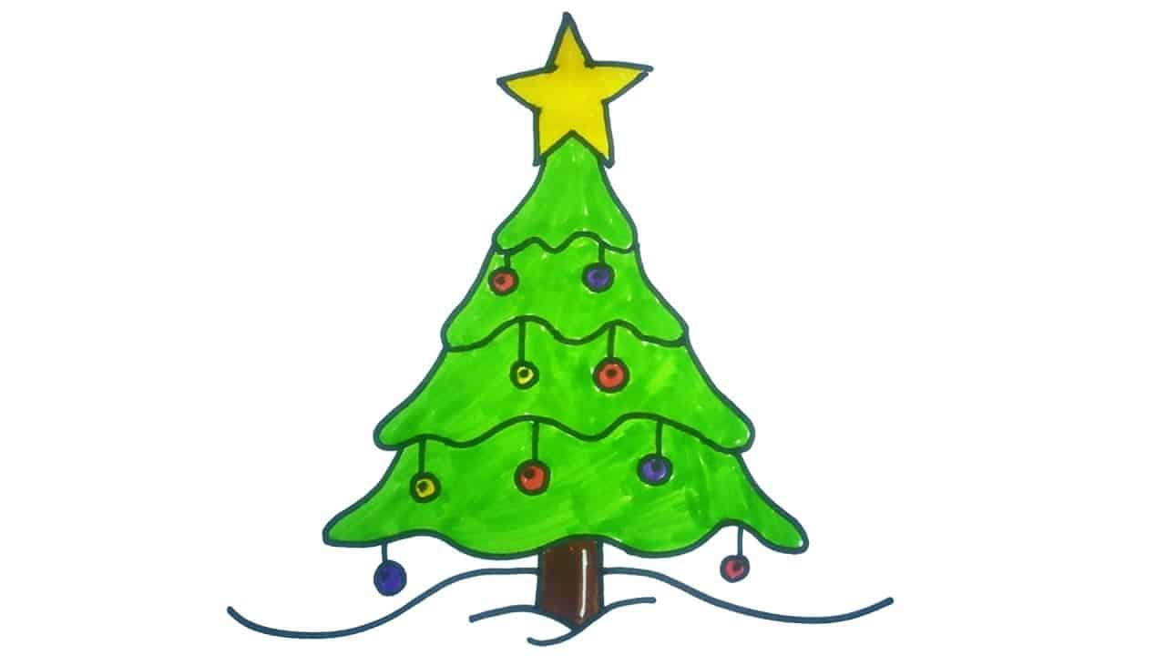 Easy To Draw Christmas Tree.15 Diy Christmas Tree Drawings To Do With The Kids