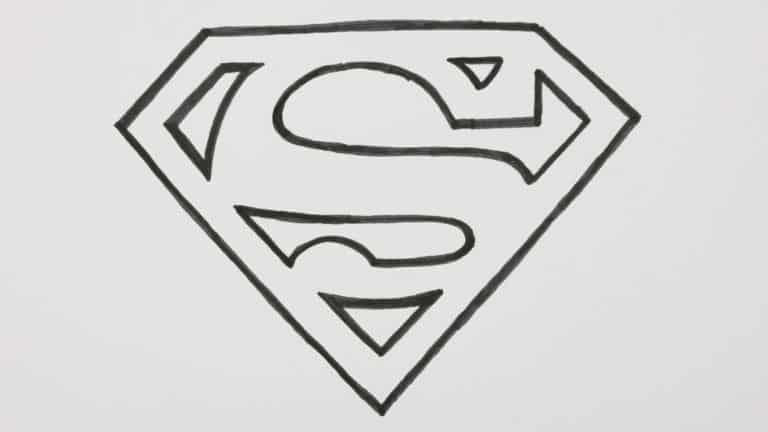 How to draw a superman logo how to draw a superman logo cartoon comic doodle [20] youtube