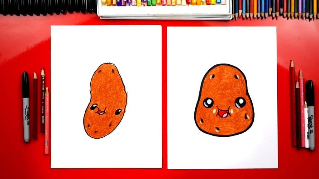 How to draw funny potato