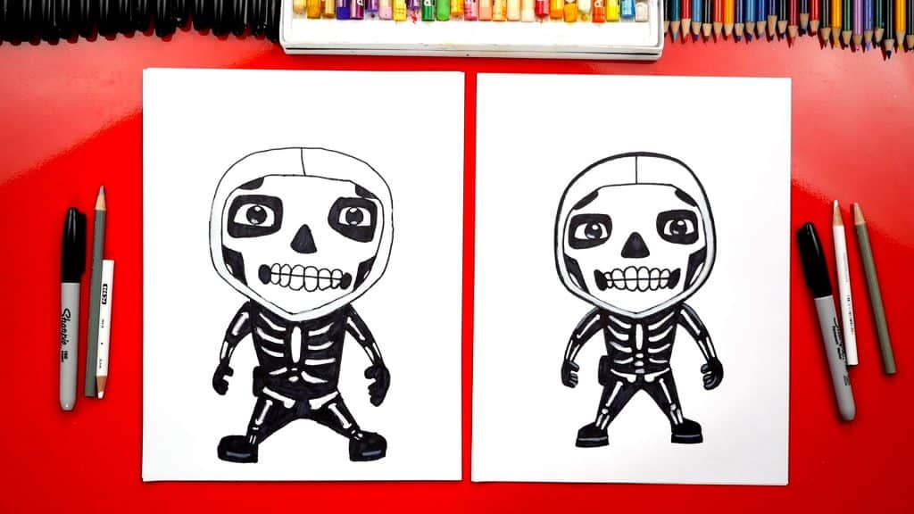 How to draw skull trooper