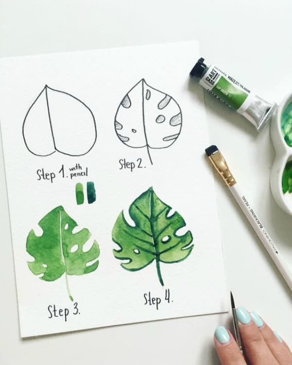 Leaf tutorial drawing