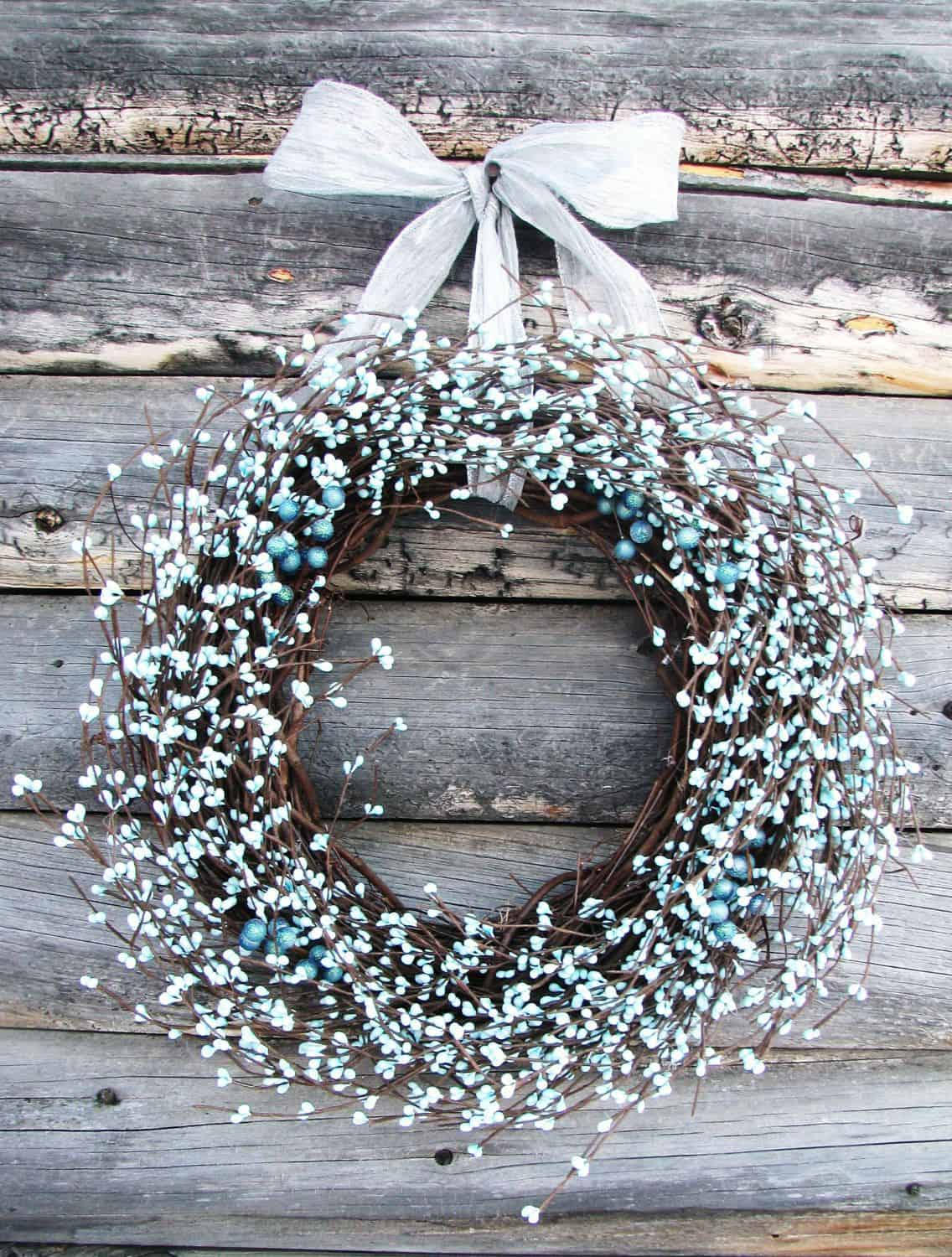 Light ice blue wreath