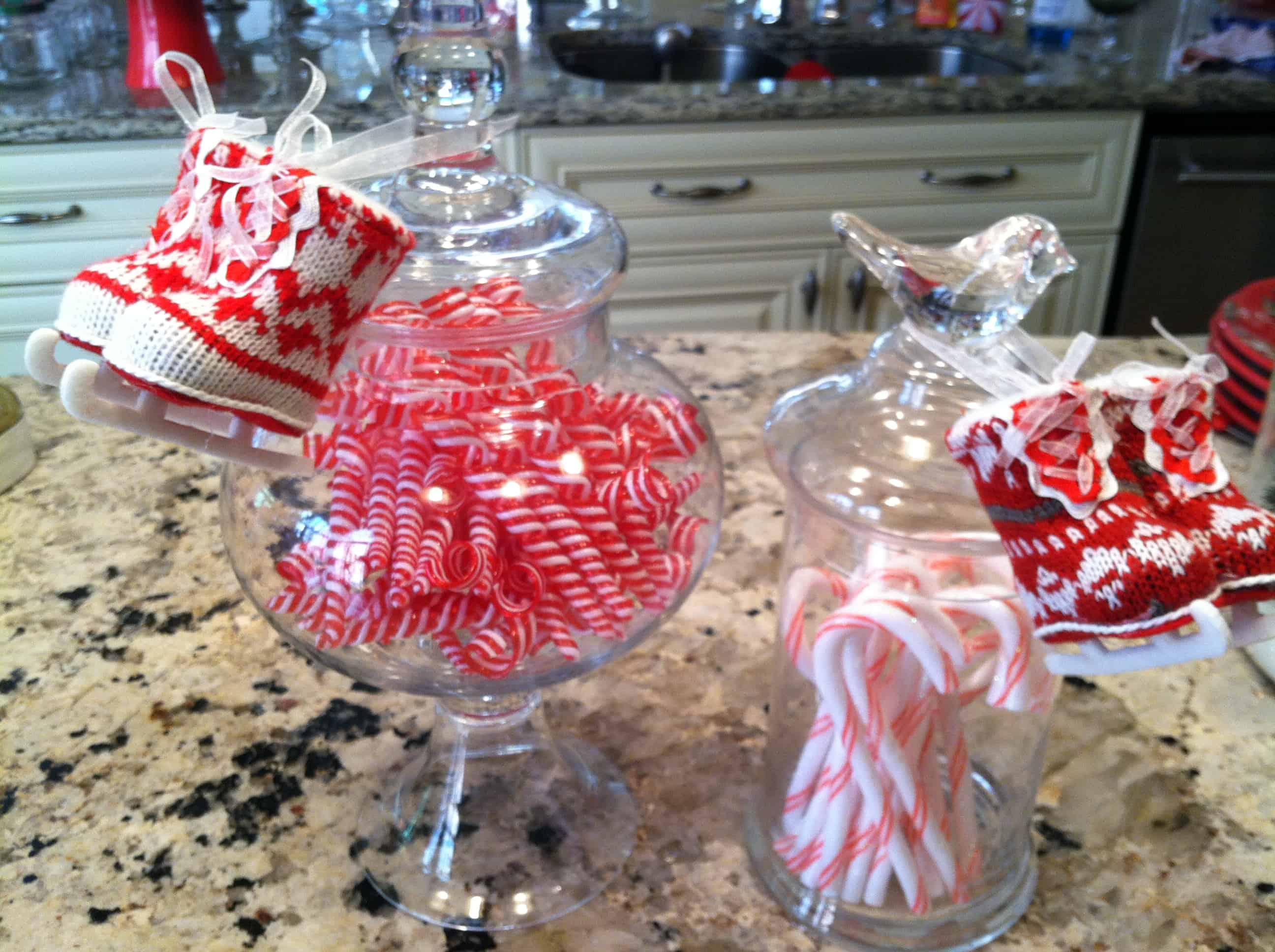 Peppermints in apothecary jars