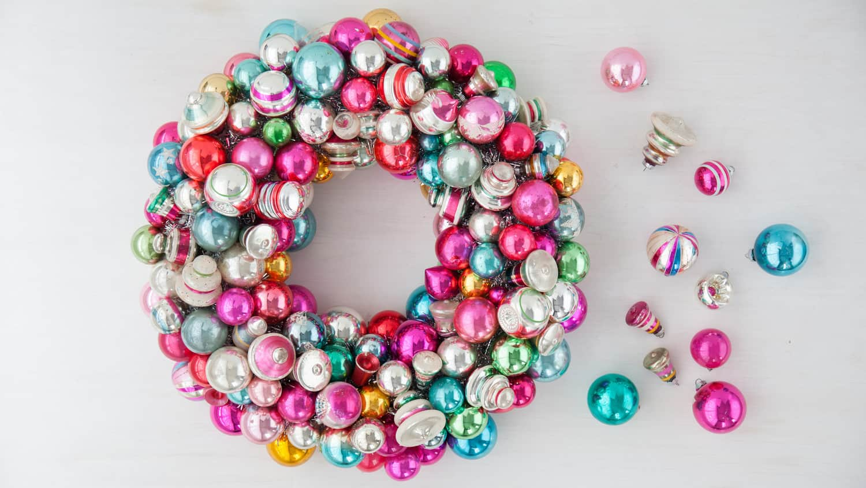 Vintage christmas ornaments shinny brights