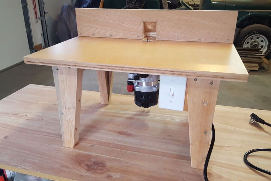 6 step diy router table