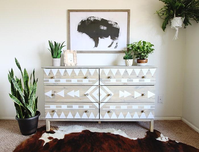 Aztec inspired dresser