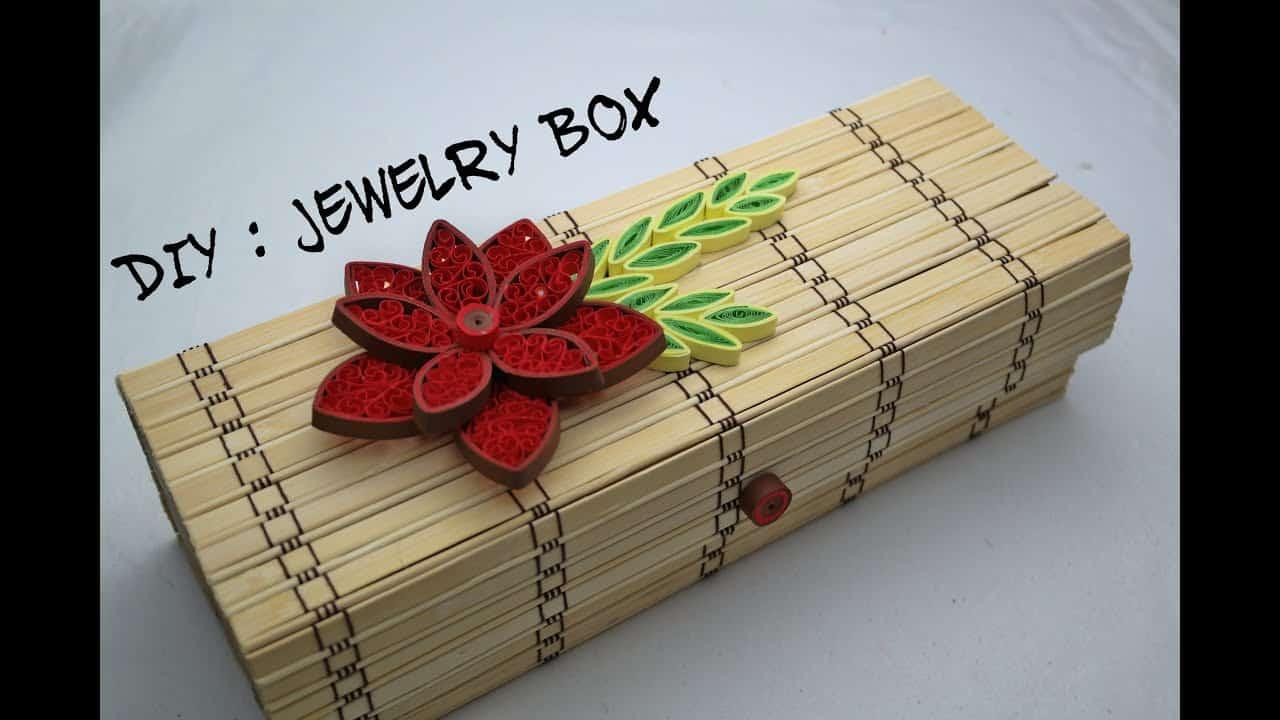 Bamboo mat jewelry box
