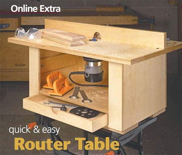 Basic box shaped router table for beginners