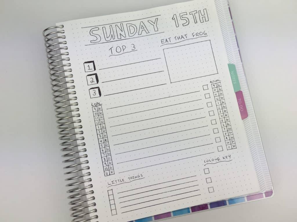 Basic checklist style bullet journal