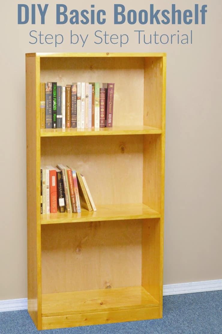 Basic wooden bookshelf