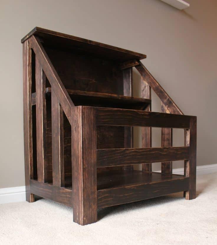 Bookshelf and toybox combo