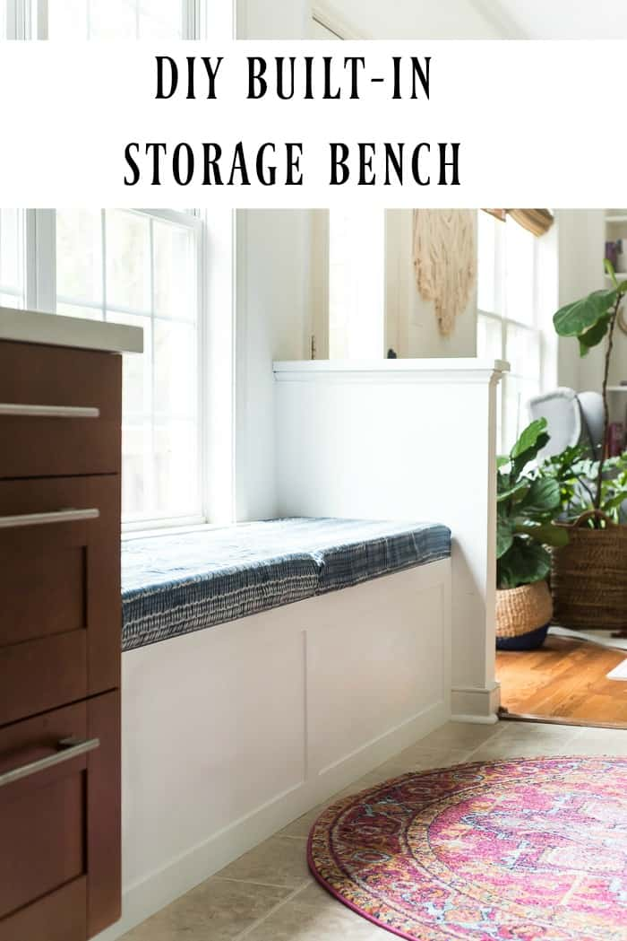 Built in storage bench