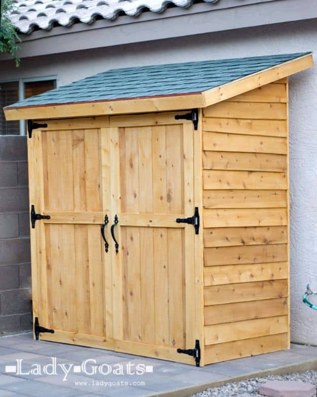 Cedar fence picket storage shed