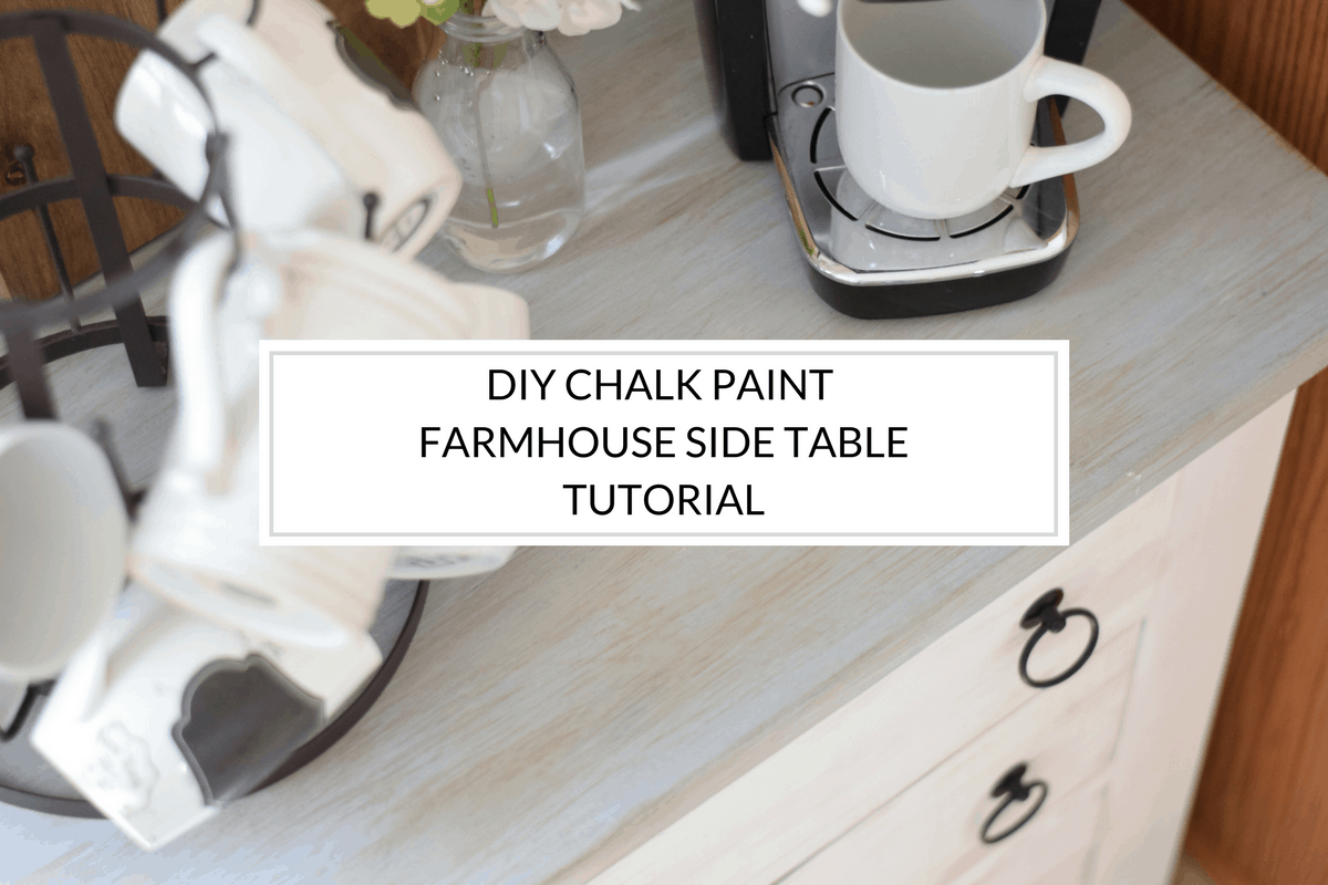 Chalk paint farmhouse side table