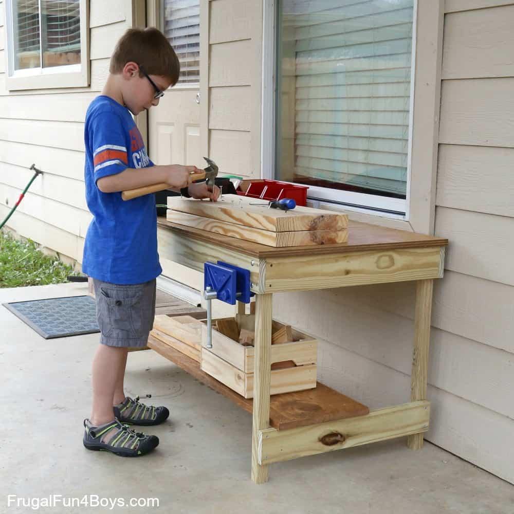 Children's sized workbench